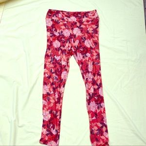 Coral Floral TC Lularoe new leggings
